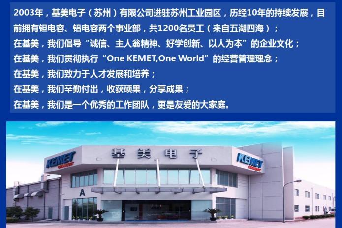 首页 电子技术/半导体/集成电路招聘企业 基美电子(苏州)有限公司