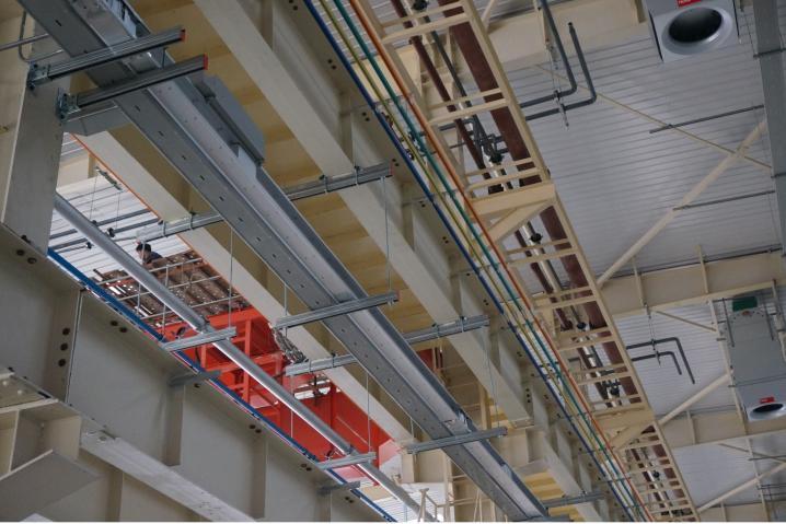重型钢结构厂房管线支架安装