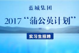 蓝城集团2017实习生招聘